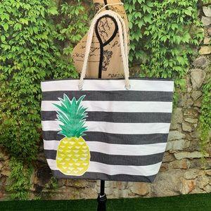 Handbags - PINEAPPLE Print Nautical Beach Bag